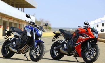 Novas Honda CB 650F e CBR 650F